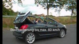 Download Peugeot 207 cc tuning remote roof opening 30 km/h Video