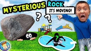Download MYSTERIOUS ROCK in BACKYARD!?!? (FUNnel Vision Vlog Goes Wrong!) 😉 Video