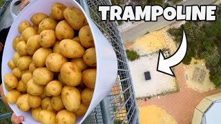 Download 200 POTATOES Vs. TRAMPOLINE from 45m! Video