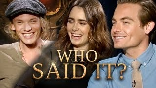Download The Mortal Instruments Cast: Who Said It? Jamie Campbell Bower, Lily Collins, Kevin Zegers Video