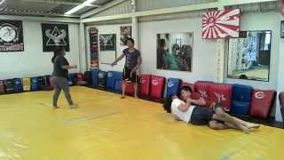 Download Girl beat a big man in jiu jitsu sparring(2) Video