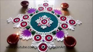 Download Super Creative and Easy Rangoli Designs Using Bangles  Diwali Festival Rangoli by Shital Mahajan. Video