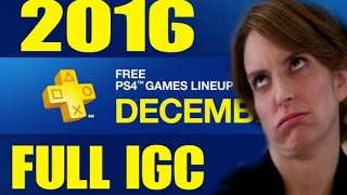 Download PS PLUS DECEMBER 2016 FULL LINEUP IGC Video