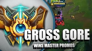 Download Gross Gore wins MASTER PROMOS (Enemy team helps Gross Gore to win Master Promos against Trollers) Video