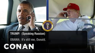 Download Trump Telephones Obama Days Before His Inauguration - CONAN on TBS Video