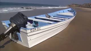 Download Panga boat washes ashore in Laguna Beach; 4 people detained Video