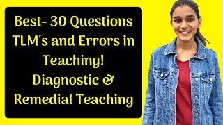 Download Teaching Learning Materials, Errors, Remedial and Diagnostic Test Questions for DSSSB-2018 Video