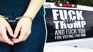 Download ″F*ck Trump″ Truck Owner ARRESTED Video