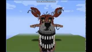 Download Mega Build Nightmare Foxy (FNAF4) Minecraft Review Video