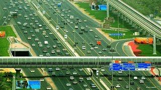 Download ( Dubai Sheikh Zayed Road ) Jebel Ali Industrial Area 1 to Al Ghubaiba Bus Station journey HD Video