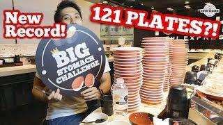 Download INSANE 121 Plates of Sushi Eaten?! | SUSHI EXPRESS EATING RECORD! 爭鮮大胃王挑战新纪录! Video