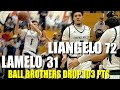 Download CRAZY 🔥 Ball Brothers DROP 103 pts. vs Rancho Christian : LiAngelo 72 LaMelo Ball 31 Video
