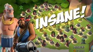 Download Insane Resource Base Takeovers!   Heavy Warrior Attacks   Boom Beach Video