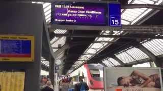 Download With the SBB-CFF-FFS ICN Train to Biel / Bienne Switzerland Video
