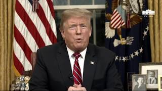 Download Donald Trump s'adresse à la nation américaine pour défendre son projet de mur à la frontière Video