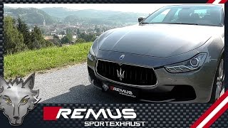 Download Maserati Ghibli S Q4 with REMUS cat-back system Video