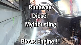 Download How to Stop a Run-away Diesel -ENGINE BLOWS ! Video