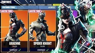 Download *NEW* ″SPIDER KNIGHT″ + ″ARACHNE″ Fortnite Skins! Item Shop Countdown Live PS4 Skin Gameplay Today Video