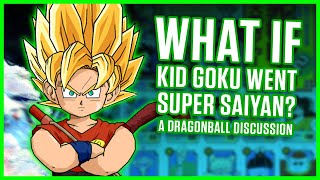 Download WHAT IF KID GOKU WENT SUPER SAIYAN? | A Dragonball Discussion Video