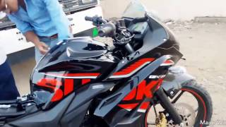 Download 2017 Suzuki Gixxer SF FI Black Unload to Showroom first look Walkround Video