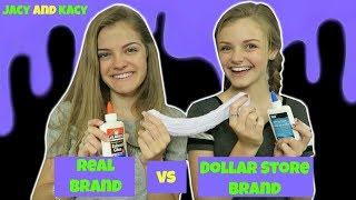 Download Real Brand vs Dollar Store Brand ~ Slime Challenge ~ Jacy and Kacy Video