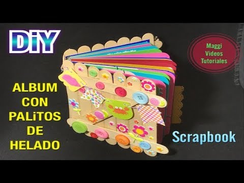 Album de Palitos de Helados Scrapbook