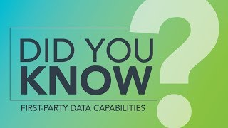 Download Did You Know: A DMP's First-Party Data Capabilities Video