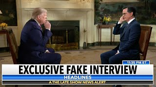 Download Stephen Colbert's Interview Of Fox News' Interview Of President Trump Video