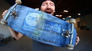 Download A SKATEBOARD MADE OF A DENIM! | YOU MAKE IT WE SKATE IT EP 70 Video