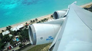 Download FAST Takeoff & IMMEDIATE Right Turn - KLM Boeing 747-400 [PH-BFL] Takeoff from St. Maarten Video