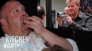 Download Chef EATS POPCORN While Watching Video of Himself Get Insulted! | Kitchen Nightmares Video
