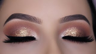 Download Classic Brown Glitter Eye Makeup Tutorial Video