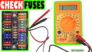 Download How to check car fuses without pulling them out - Testing fuses with a Multimeter Video