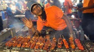 Download NIGHT MARKET FOOD in Manila Philippines: BBQ & BLOOD STEW Video