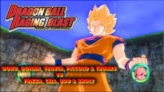 Download Dragon Ball Raging Blast - Goku, Gohan, Vegeta, Piccolo & Trunks vs Frieza, Cell, Buu & Broly Video
