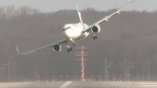 Download UNBELIEVABLE CROSSWIND LANDINGS during a STORM with 20 ABORTED LANDINGS - GO AROUND !! Video