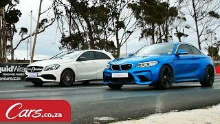 Download Drag Race: BMW M2 vs Mercedes A45 AMG Video
