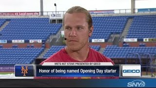 Download Noah Syndergaard on starting Opening Day for the New York Mets Video