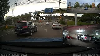 Download Bad Drivers in Sweden #142 Pothole slalom, reversing issues and parking hero! Video