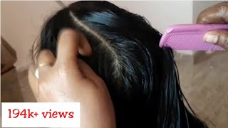 Download Long hair oiling and nit picking Video