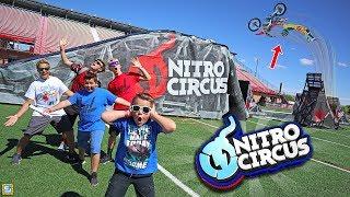 Download EPIC Dirtbike vs ATV vs Snowmobile Nitro Circus Adventure!! Video