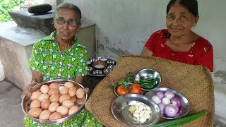 Download Egg Masala Curry prepared in my Village by Grandma and Mom | Village Food Video