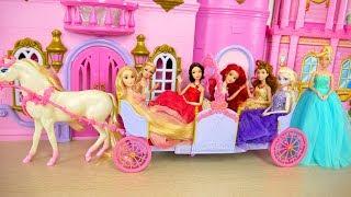 Download Princess Barbie Expandable Carriage Princess doll New Dresses Putri Barbie Gaun Vestidos Princesa Video