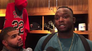 Download Miguel Sano on his ejection after shoving Tigers catcher James McCann. Video