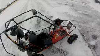 Download Crazy Go Kart Drifting in Snow!!! Video