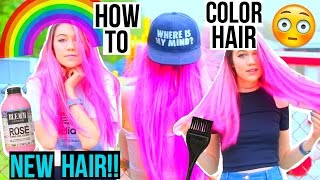 Download NEW HAIR: How to Color Hair! Video