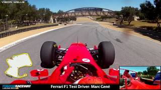 Download Ferrari Racing Days Laguna Seca - F1 Test Driver: Marc Gene - RECORD SETTING LAP!! Video