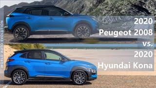 Download 2020 Peugeot 2008 vs 2020 Hyundai Kona (technical comparison) Video