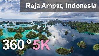 Download 360°, Raja Ampat archipelago, Indonesia, 5K aerial video Video
