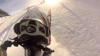 Download Utah Gopro Footage Turbo Arctic Cat m8 Snowmobile Wheelie's entire STEEP hill Boondocking thru Trees Video